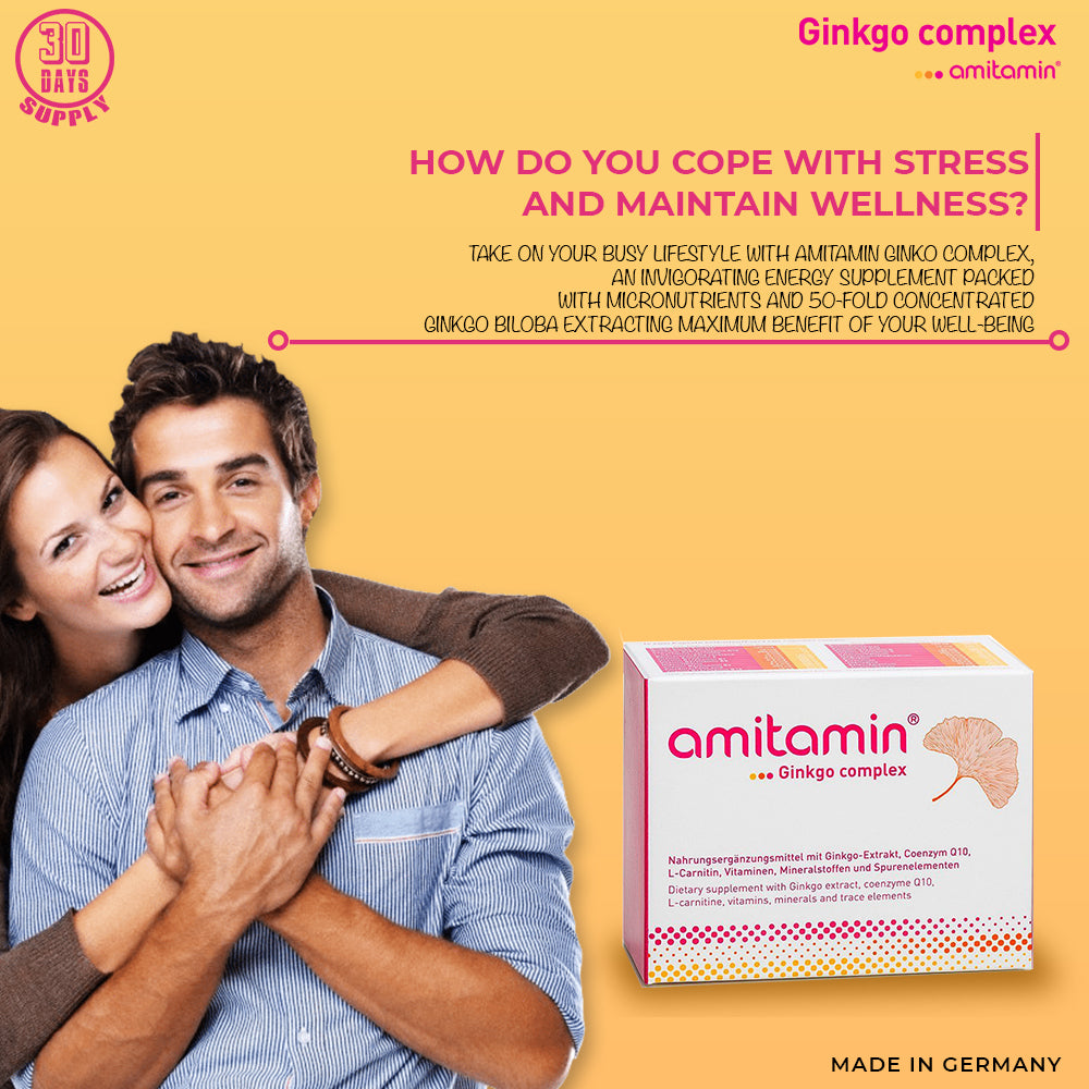 amitamin® Ginkgo Complex-To Reduce Impact of Stress & Advance Overall Well being (30 Days Supply)