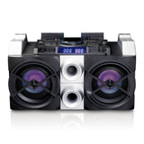 Lenco PMX-150 - High Power DJ Mixer System met Bluetooth, USB, FM Radio en Party Lights - Zwart