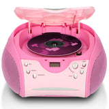 Lenco SCD-24 Pink - Portable stereo FM radio with CD player - Pink