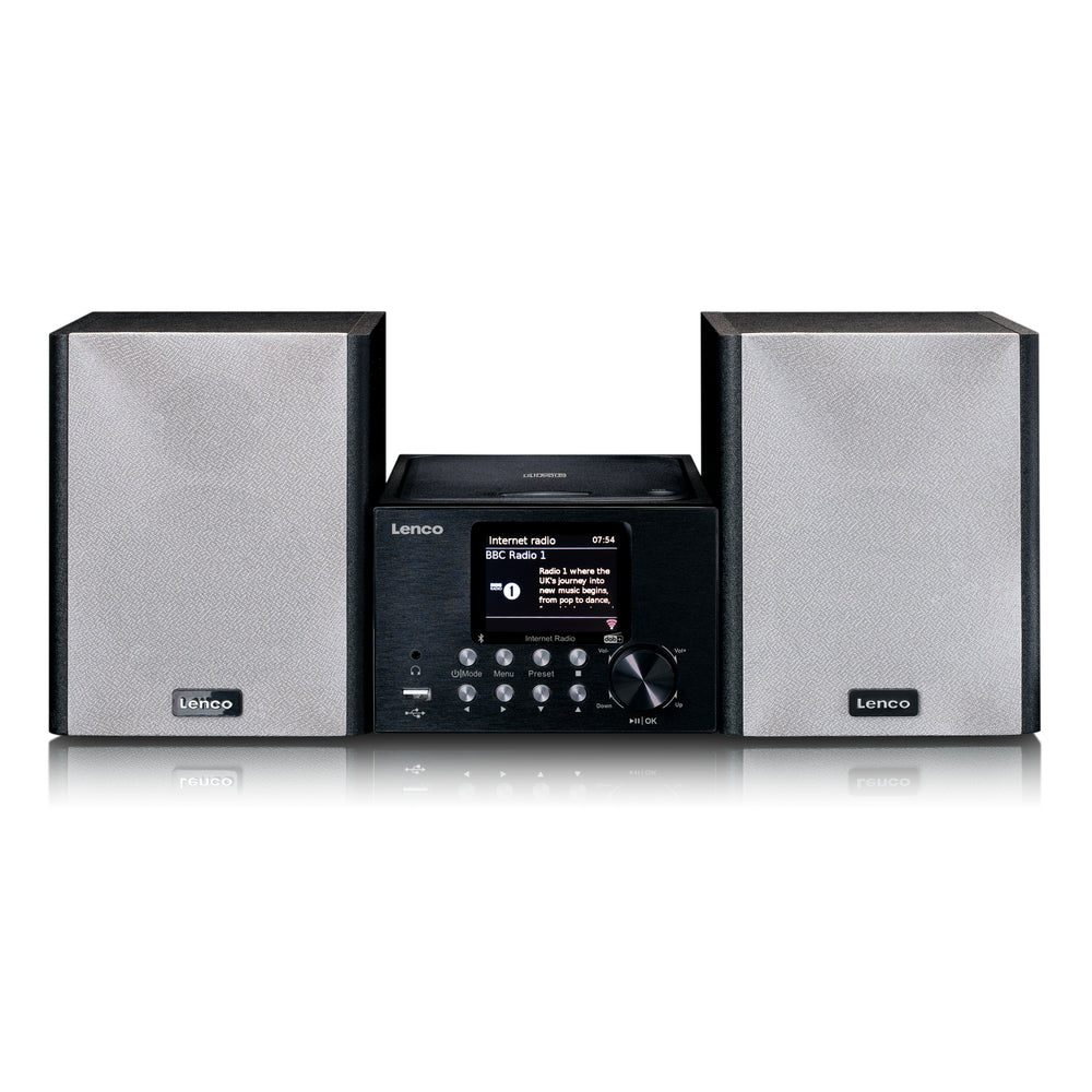 Lenco MC-250BK - Micro set met smart radio, CD/USB speler, internet, DAB+, Bluetooth - Zwart