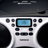 Lenco SCD-501WH Portable FM Radio CD-USB player with Bluetooth - White