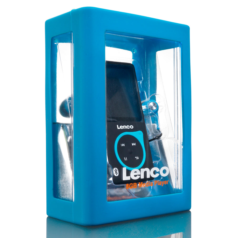 Lenco XEMIO-768 Blue - MP3/MP4 speler met Bluetooth incl. 8GB micro SD kaart - Blauw