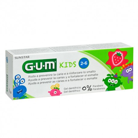 GUM KIDS PASTA DENTAL FRESA 50 ML 2-6 AÑOS