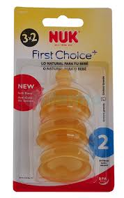 NUK TETINA FIRST CHOICE LATEX TALLA 2 - 3 X 2 UNIDADES