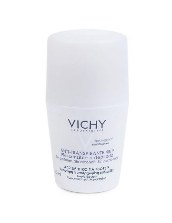 VICHY DESODORANTE PIEL SENSIBLE  O DEPILADAS ROLL ON 50ml