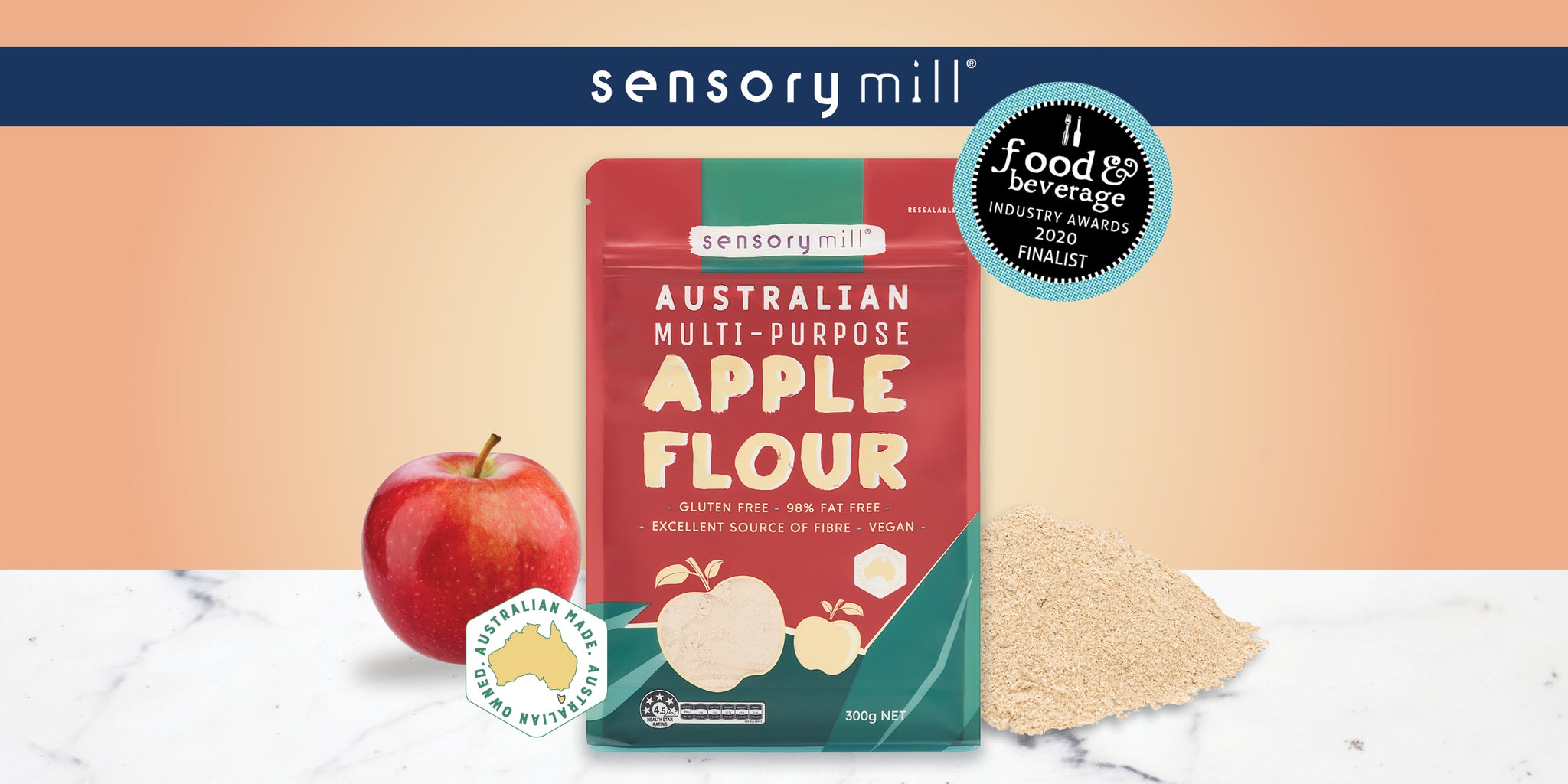 Apple Flour sifts into the Finalist Category in 2020 Food and Beverage Industry Awards