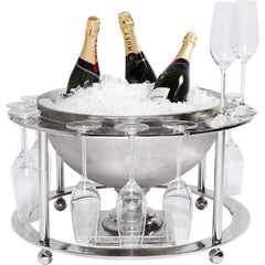 Wine Cooler CHAMPAGNE TIME wd Glass Holders
