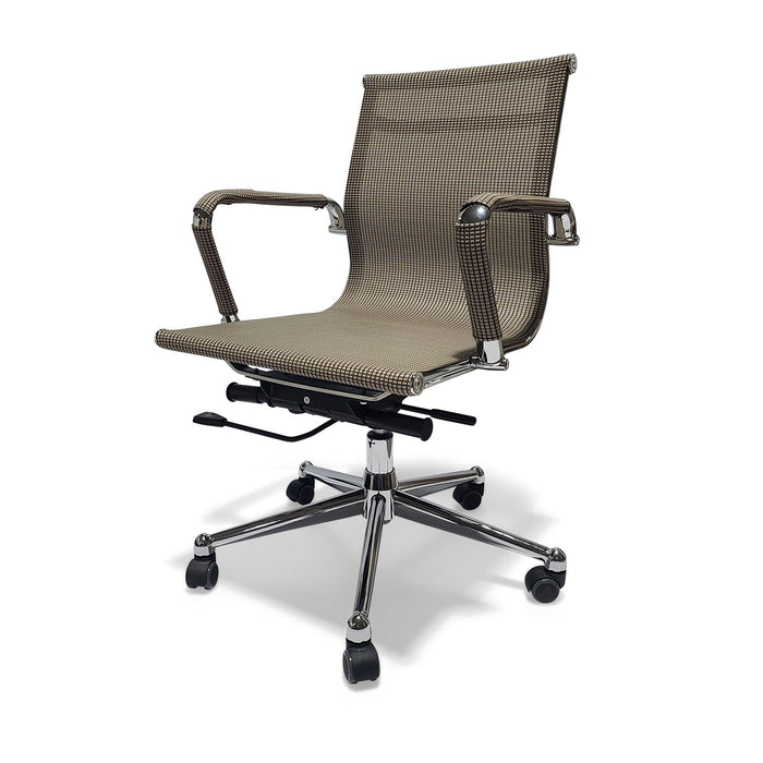 Desk Chair Mesh Beige Brown