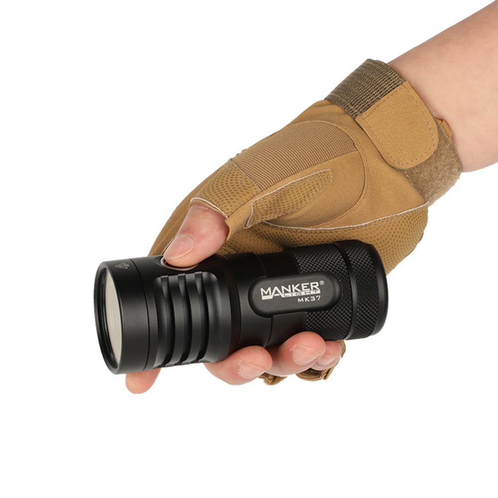 Manker MK37 5,800 Lumens Flashlight with Luminus SBT90.2 Emitter with 18650 Batteries