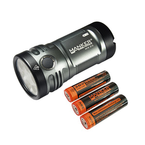 Manker MK36 12,000 Lumens CREE XHP50.2 3V  / LUMINUS SST-40-W LED Flashlight with Batteries