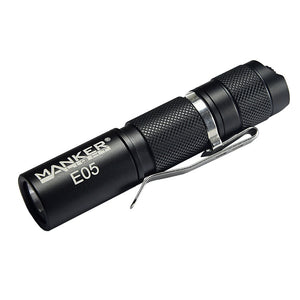 Manker E05 400 Lumens Pocket AA/14500 OSRAM KW CSLNM1.TG LED Thrower Flashlight (BATTERIES NOT INCLUDED)