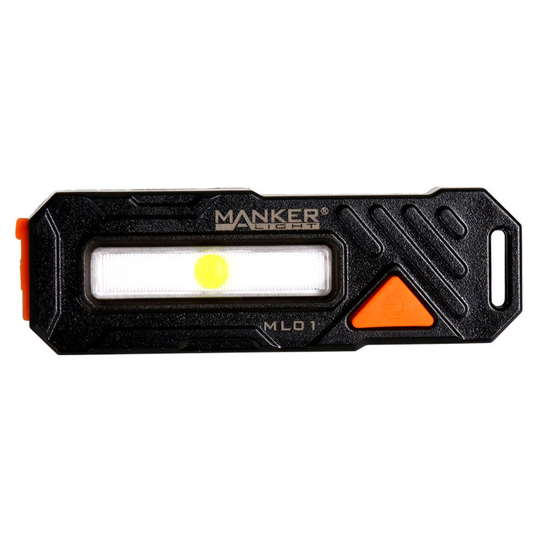 Manker ML01 90 Lumens Multipurpose Bike Light with Red, White, and Blue COB LED