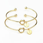 NEW Fashion 26 Letter Initial Bangles Bracelets