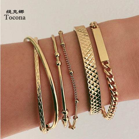 Gold Bracelets Fashion Metal Chain