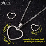 SMJEL Bijoux Stainless Steel Love Heart Necklaces
