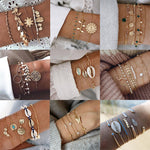 Tocona Boho Multilayer Gold Bracelets