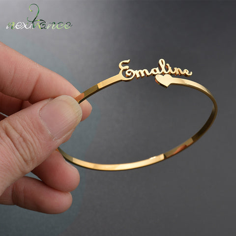 Nextvance Customized Nameplate Name Bracelet