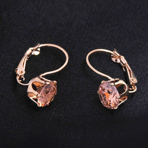 Vintage Rose Gold Color Hoop Earrings