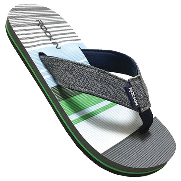 Kids Wide Stripe Flip Flops