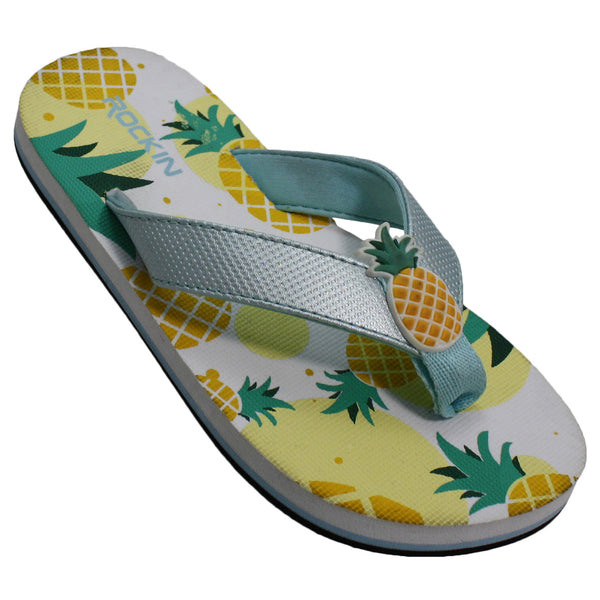 Kids Pineapples Flip Flops