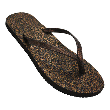 Women's Metallic Pebbles Flip Flops