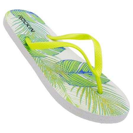Women's Tropical Leaves Flip Flops