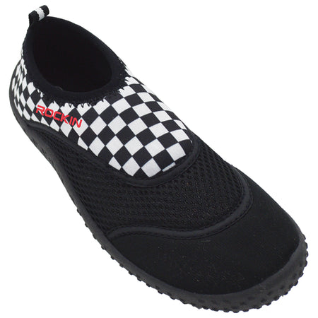 AQUA CHECKERS Women's Aqua Socks
