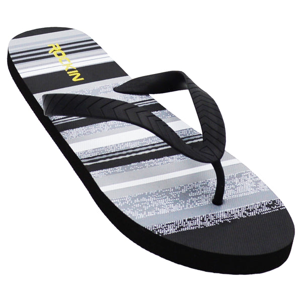 Men's SOLID STRIPE flip flops