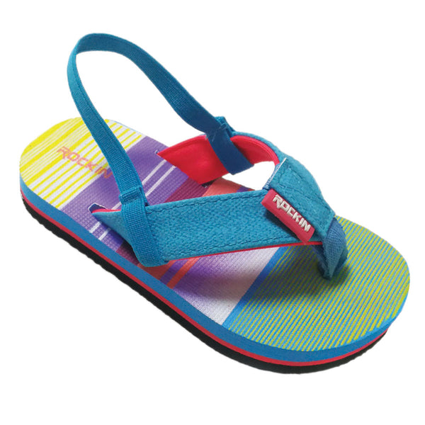 Wide Stripe Toddlers Flip Flops