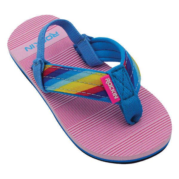 Rainbow Stripes Toddler Flip Flops