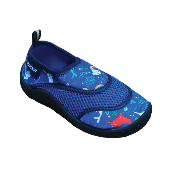Aqua Narwhal Toddlers Aqua Socks