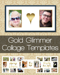 Gold Glimmer Collage Templates