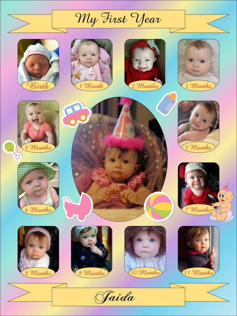 Baby's First Year Collage Templates – Discovery Center Store