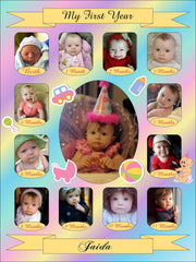 Baby's First Year Collage Templates
