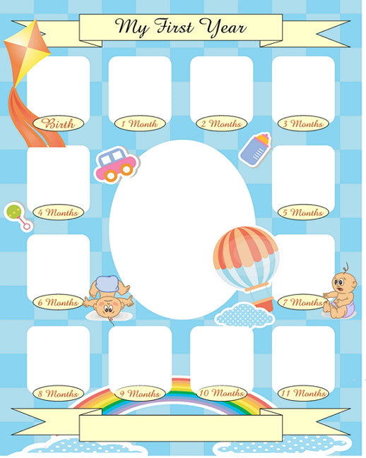 Baby S First Year Collage Templates Discovery Center Store