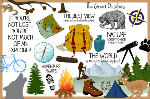 Great Outdoors Clipart (40 pcs.)