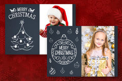 Chalkboard Christmas Cards (Pack of 4)