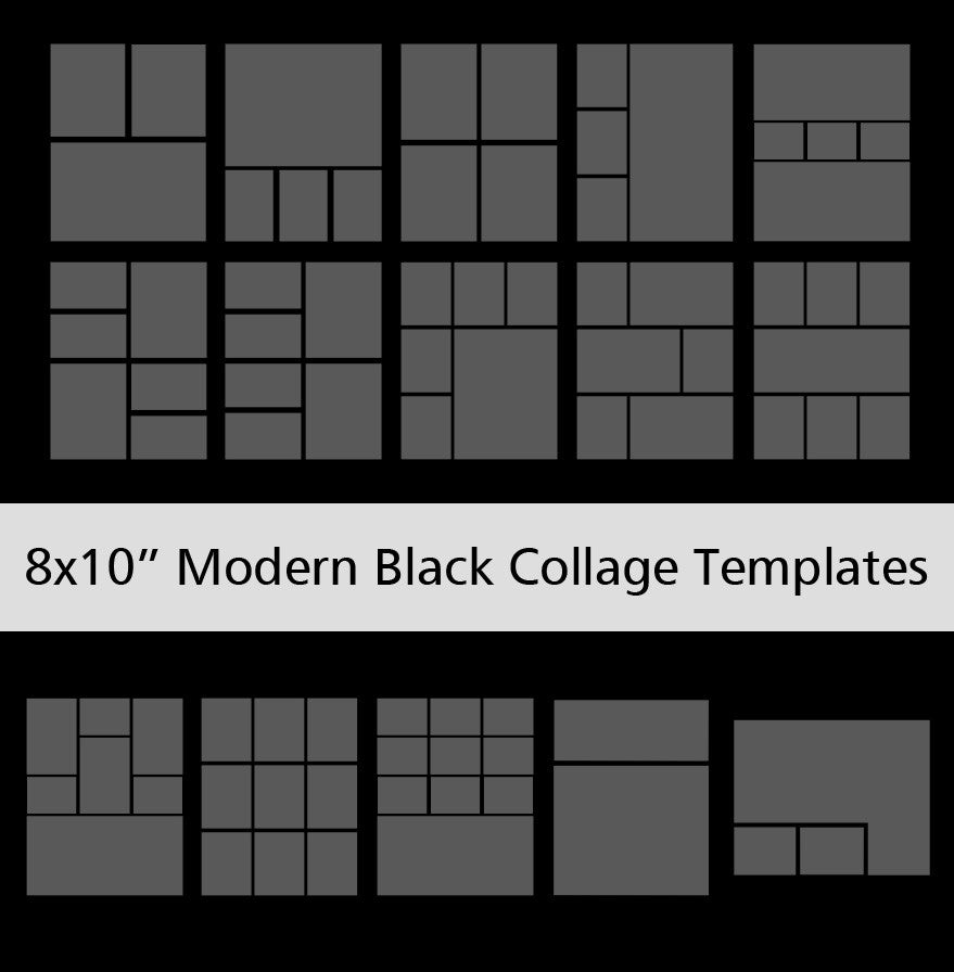 4 picture collage template - 8x10 modern black collage templates discovery center store