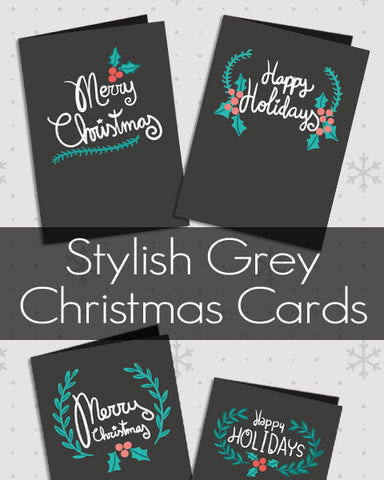 Stylish Grey Christmas Cards