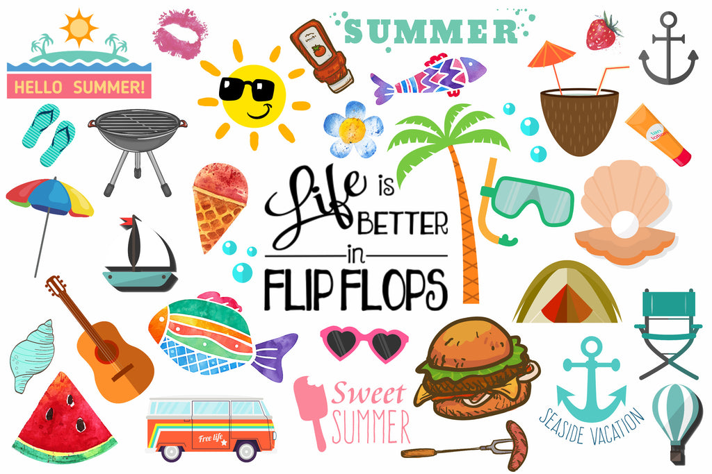 summer clipart 100 pieces discovery center store rh shop learn corel com clip art summer camp clip art summertime images
