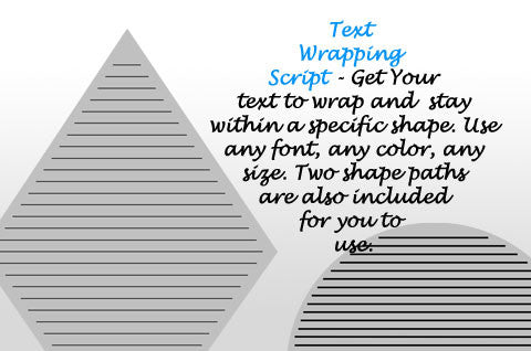 Text Wrapping Script by Cassel