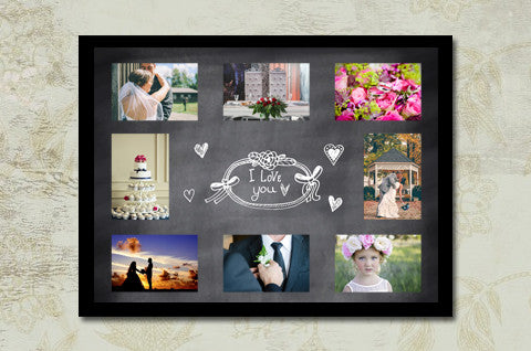 chalkboard wedding collage templates discovery center store