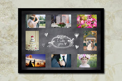 Chalkboard Wedding Collage Templates