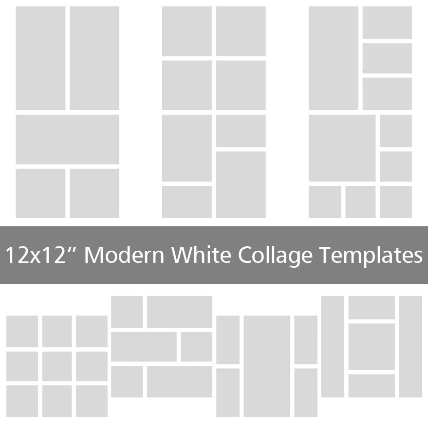 10 modern 12x12 collage templates discovery center store for 4 picture collage template