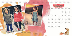 Magical Watercolor Desk Calendar Templates