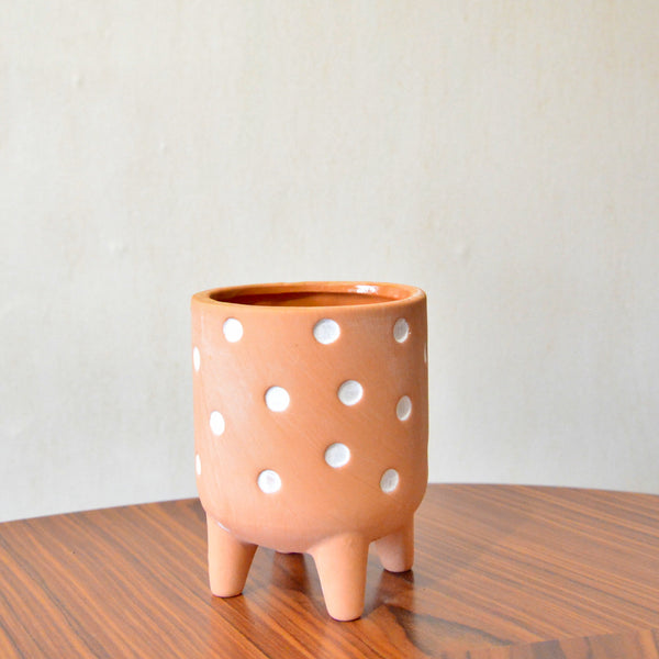 Cache-pot terracotta Polka Dot