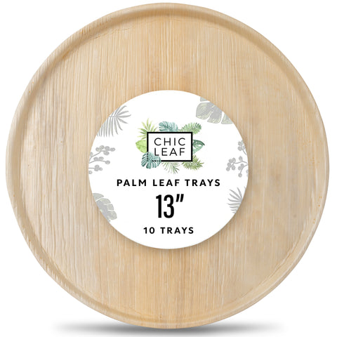 disposable palm leaf tray