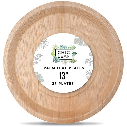 "13"" Palm Leaf Trays"