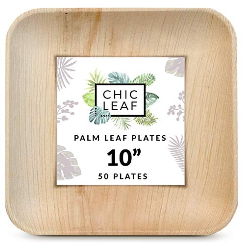 "10"" Palm Leaf Plates (50 Pack)"