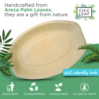 "13""x9"" Palm Leaf Trays"